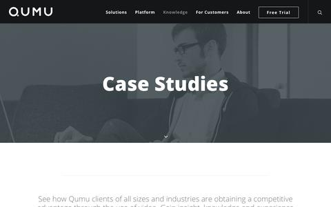 Screenshot of Case Studies Page qumu.com - Case Studies and Use Cases | Qumu Enterprise Video - captured Sept. 20, 2018