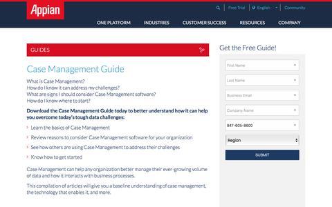 Screenshot of Case Studies Page appian.com - Case Management Guide | Appian - captured June 22, 2018