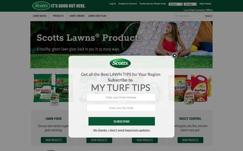 Screenshot of Products Page scotts.com - Lawn and Garden Products | Scotts Canada - captured Dec. 24, 2016