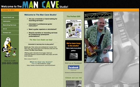 Screenshot of Home Page themancavestudio.com - :: The Man Cave Studio :: - captured Oct. 8, 2014