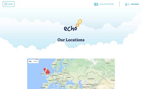 Screenshot of Locations Page echo-ms.com - Echo Site Locations and Directions | Echo Managed Services - captured Oct. 21, 2016