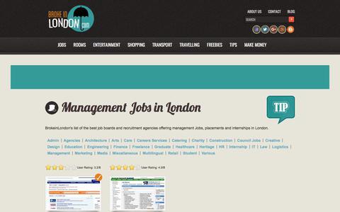 Screenshot of Team Page brokeinlondon.com - Management jobs in London - BrokeinLondon - captured Sept. 22, 2018