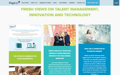 Screenshot of Blog pageuppeople.com - Fresh Views on Talent Management, Innovation and Technology - PageUp - captured Nov. 23, 2015