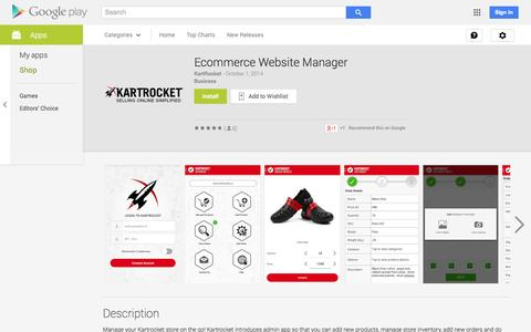 Screenshot of Android App Page google.com - Ecommerce Website Manager - Android Apps on Google Play - captured Nov. 5, 2014