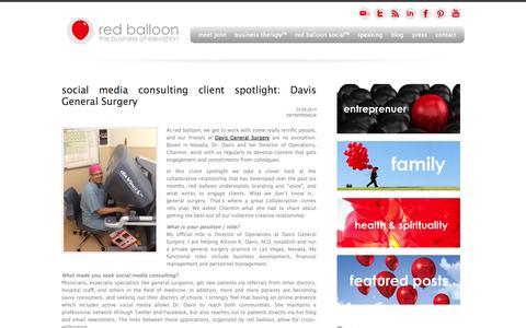 Screenshot of Blog redballooninc.com - Blog | Inspiring Interviews | Live Events | News | Business Tips - captured Oct. 26, 2014