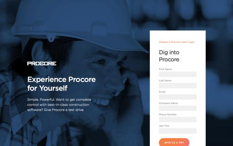 Experience Procore for Yourself