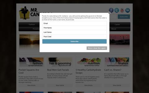 Screenshot of Home Page mrcanberra.com.au - Mr Canberra - captured Sept. 30, 2014
