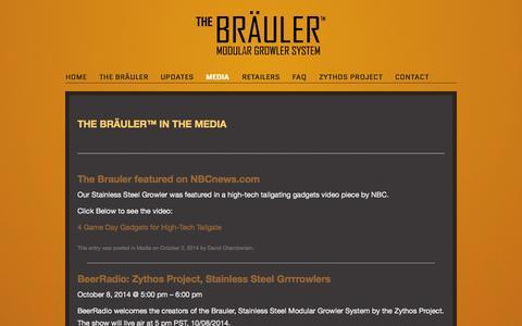 Screenshot of Press Page thezythosproject.com - Media | Bräuler - captured Oct. 7, 2014