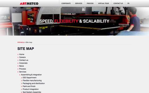 Screenshot of Site Map Page artmetco.com - Site map - Artmetco - captured Dec. 26, 2015