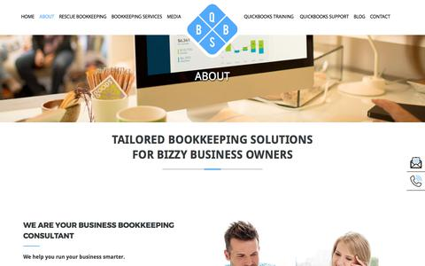 Screenshot of About Page qbbs.com.au - About | Bookkeeping Services Melbourne | QBBS | QBBS - captured Sept. 10, 2017