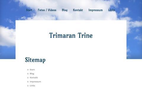 Screenshot of Site Map Page jimdo.com - Sitemap - hju-tris Webseite! - captured June 6, 2016