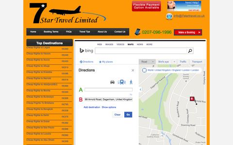Screenshot of Maps & Directions Page 7startravel.co.uk - world map - captured Oct. 27, 2014