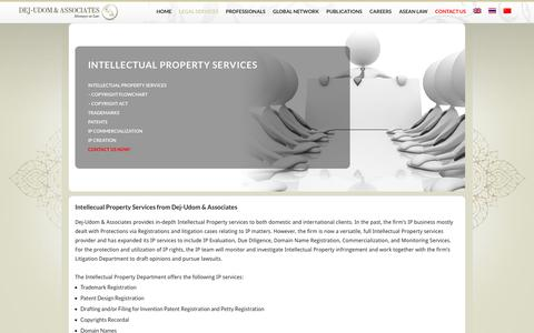 Screenshot of About Page dejudomlaw.com - Intellectual Property Services for Thailand | Dej-Udom & Associates - captured June 21, 2017