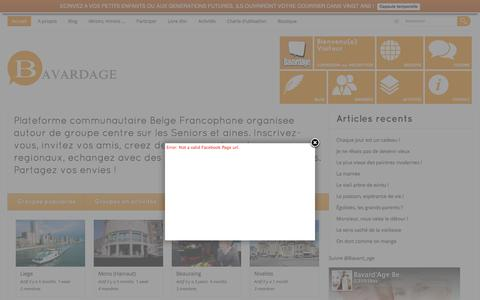 Screenshot of Home Page bavardage.be - Home | - captured March 5, 2016