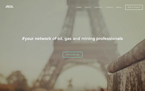 Screenshot of Home Page jagsglobal.com - JÄGS. - captured Sept. 30, 2014