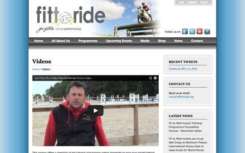 Screenshot of Press Page fittoride.org - Videos | Fit to Ride - captured Oct. 2, 2014