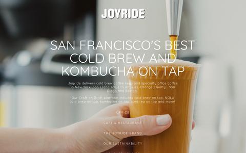 Screenshot of Home Page joyridecoffeedistributors.com - Drink Joyride - captured Dec. 10, 2018