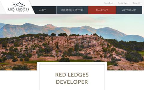 Screenshot of Developers Page redledges.com - Red Ledges Executive Team | Red Ledges - captured July 14, 2018