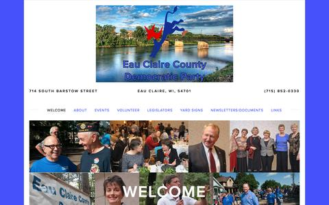 Screenshot of Home Page eauclairedemocrats.org - Eau Claire County Democratic Party - captured April 14, 2017