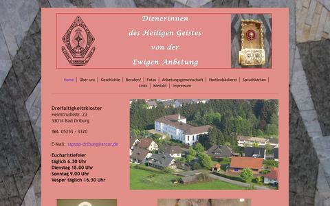Screenshot of Home Page dreifaltigkeitskloster.de - Dreifaltigkeitskloster - Home - captured June 7, 2018