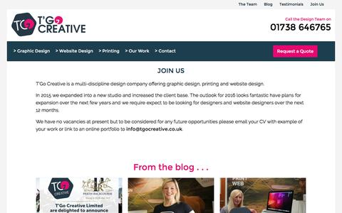Screenshot of Signup Page tgocreative.co.uk - Join Us | T'Go Creative Graphic Design, Website Design and Printers in Perth - captured Sept. 27, 2016