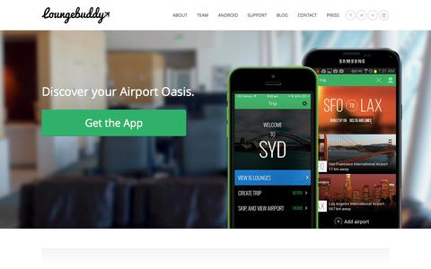 Screenshot of Home Page loungebuddy.com - Airport Lounges: Reviews & Club Access Worldwide | LoungeBuddy - captured Sept. 19, 2014