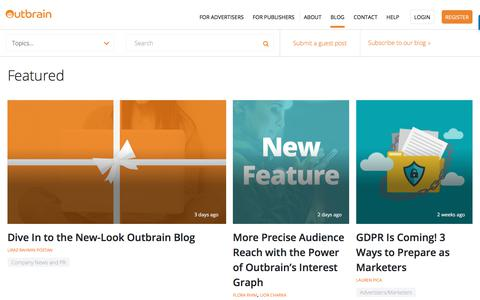 Digital Marketing & Content Discovery | Blog | Outbrain