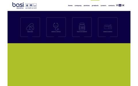 Screenshot of Products Page basi.pt - Produts | Laboratórios Basi - captured Sept. 26, 2018