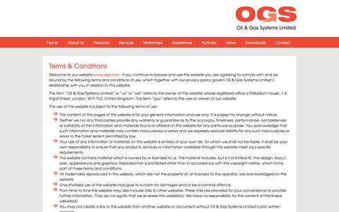 Screenshot of Terms Page ogsl.com - Oil & Gas Systems Limited - Terms & Conditions - captured Feb. 16, 2016