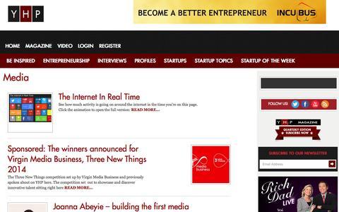 Screenshot of Press Page yhponline.com - Media Archives   YHP - captured Sept. 23, 2014