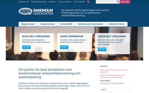Screenshot of Home Page sandholm.se - Välkommen till Sandholm Associates - captured Nov. 18, 2016