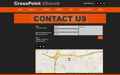 Screenshot of Home Page crosspointwestallis.com - CrossPoint Church | West Allis WI | Non-denominational Church - captured Oct. 7, 2015