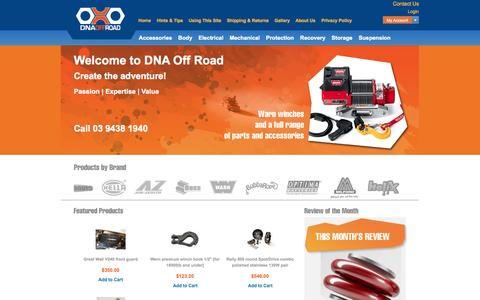 Screenshot of Home Page dnaoffroad.com.au - Quality 4X4 gear from a trusted Australian company DNA Off Road Pty Ltd - captured Oct. 5, 2014