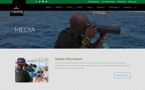 Screenshot of Press Page heinekenregatta.com - Media - St. Maarten - captured Oct. 19, 2018