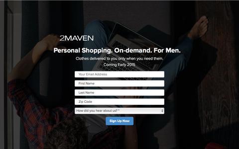 Screenshot of Home Page 2maven.com - 2MAVEN - captured Jan. 22, 2015