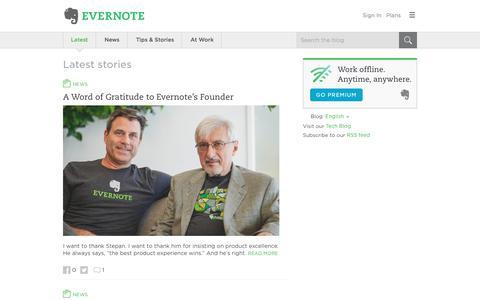 Screenshot of Blog evernote.com - Evernote Blog - Remember Everything. - captured June 29, 2017