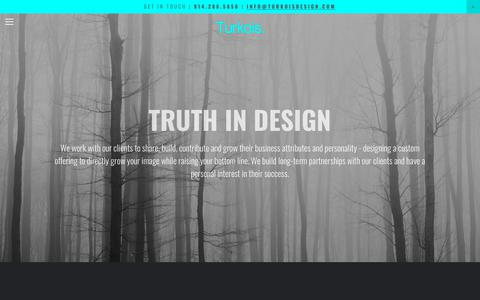 Screenshot of About Page turkoisdesign.com - About — Turkois. - captured May 29, 2019