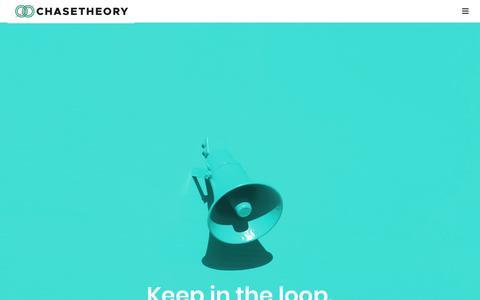 Screenshot of Press Page chasetheory.com - News – CHASE THEORY - captured Nov. 27, 2018