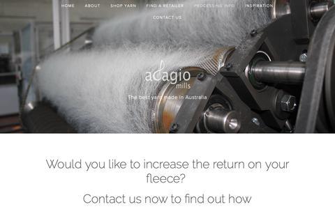 Screenshot of Services Page adagiomills.com.au - Processing info — Adagio Mills - captured Oct. 3, 2018