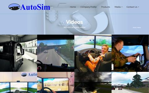 Screenshot of Press Page autosim.no - Videos | Driving Simulators and Simulator Software from AutoSim - captured Dec. 28, 2015