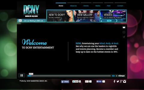 Screenshot of Services Page dc-ny.com - dcnyentertainment - captured Oct. 5, 2014