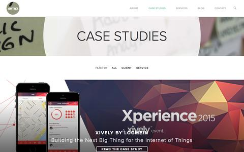 Screenshot of Case Studies Page ampagency.com - Marketing & Advertising Case Studies and Solutions - captured Jan. 28, 2016