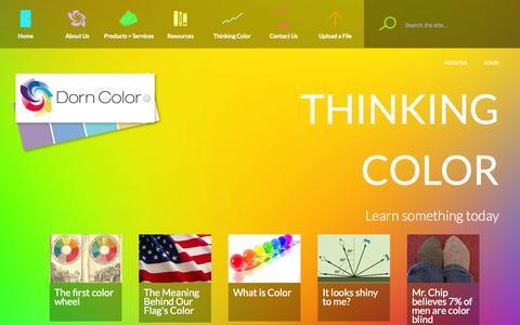 Screenshot of Blog dorncolor.com - Thinking Color | Color samples in Cleveland OH Dorn Color - captured Oct. 28, 2014
