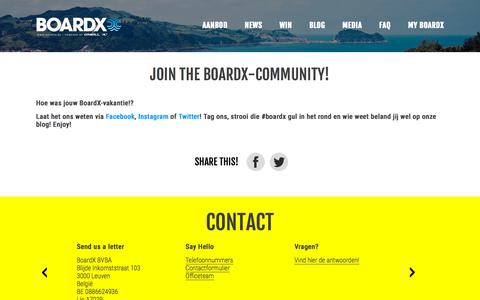 Screenshot of Blog boardx.be - Join the BoardX-community! - BoardX - captured Aug. 3, 2018