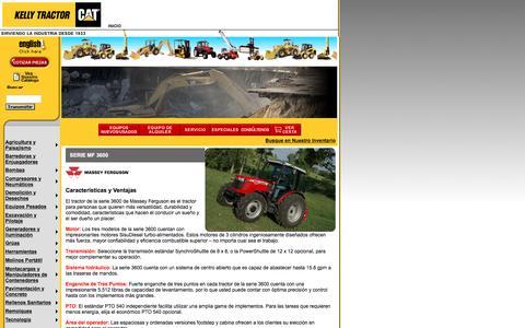 Screenshot of Landing Page kellytractor.com - Kelly Tractor Tractores de Rueda Massey Ferguson MF 3600 - captured Aug. 12, 2016