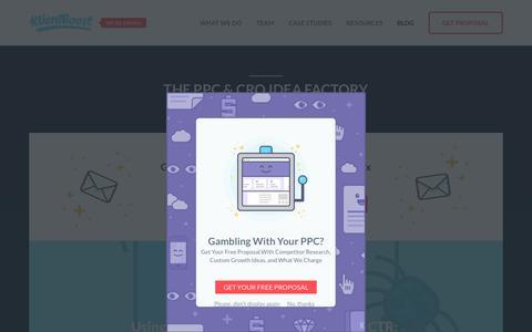 Screenshot of Blog klientboost.com - The KlientBoost Blog - Google AdWords Tips and Strategy - captured Jan. 17, 2019