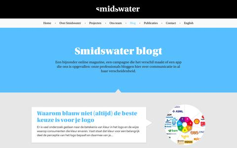 Screenshot of Blog smidswater.nl - Blog - Smidswater - captured Sept. 30, 2014