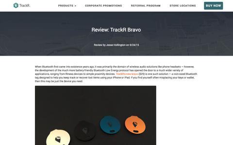 Screenshot of Press Page thetrackr.com - TrackR Reviews - See What the Press is Saying - captured July 1, 2017