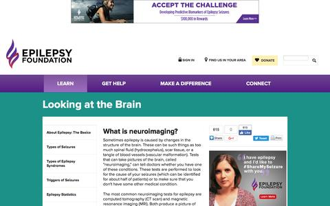 Looking at the Brain | Epilepsy Foundation