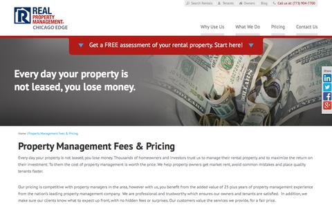 Screenshot of Pricing Page rpmchicagoedge.com - Property Management Fees Chicago IL | Real Property Management Chicago Edge - captured Feb. 14, 2016